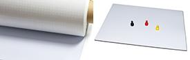 Ferrofolie Metallfolie weiß glänzend