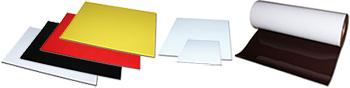 anisotrope Magnetfolie farblich beschichtet