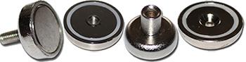 Neodymium Flat pot magnets
