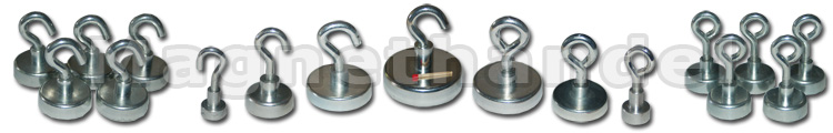 Hakenmagnete und Ösenmagnete