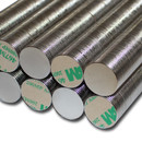 Neodymium Magnets Ø18x1 N42 self adhesive - 1,6 kg -