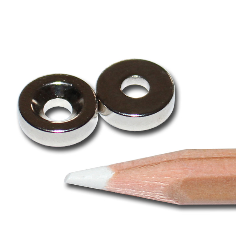 Neodymium magnets Ø10xØ3,5x3 with counterbore North NdFeB N40 - pull force 700 g -