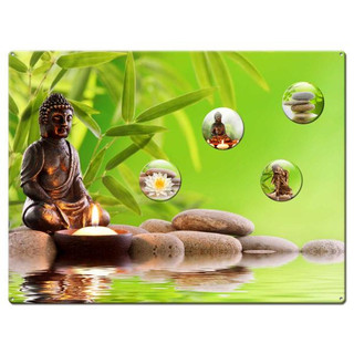 Magnetic pinboard Buddha Wellness 40x30 cm incl. 4 magnets