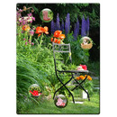 Magnetic pinboard Garden Chair 40x30 cm incl. 4 magnets