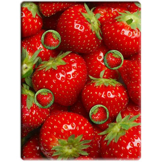 Magnetic pinboard Strawberries 40x30 cm incl. 4 magnets