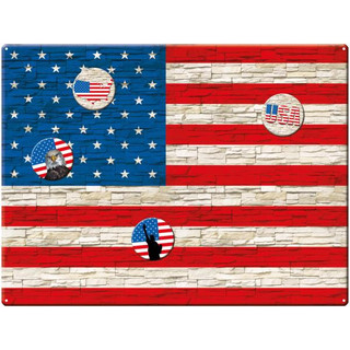 Magnetic pinboard Flag UK Wood 40x30 cm incl. 4 magnets