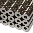 Neodymium ring magnets Ø10xØ4x5 NdFeB N45 - pull force 2,4 kg -