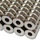 Neodymium ring magnets Ø15xØ6x6 NdFeB N45 - pull force 6 kg -
