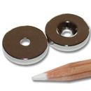 Neodymium magnets Ø20xØ4,2x4 with counterbore North NdFeB N45 - pull force 7,5 kg -