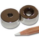 Neodymium magnets Ø20xØ5,5x10 with counterbore North...