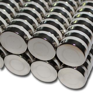 5 NEODYM MAGNETE Ø15x5 mm NdFeB N45 Scheibenmagnete Nickel