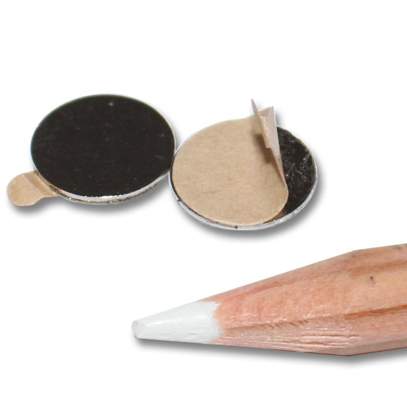 selbstklebende neodym scheibenmagnete n45 10x0 5 mm ndfeb 300 g magnet selbstklebend. Black Bedroom Furniture Sets. Home Design Ideas
