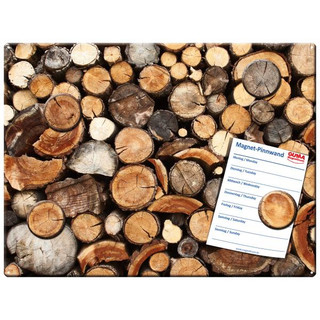 Magnetic pinboard Tree Trunks 40x30 cm incl. 4 magnets