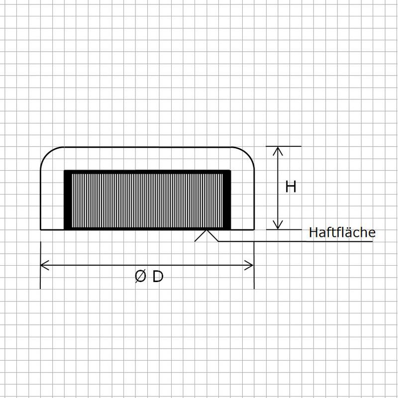 1 FLACHGREIFER TOPF MAGNET HARTFERRIT D48x9 mm FERRIT GEWINDEBUCHSE 18 KG