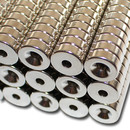 Neodymium magnets Ø12xØ3,5x4 with counterbore South NdFeB N40 - pull force 1,6 kg -