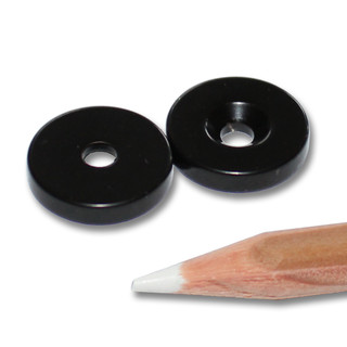 Neodymium magnets Ø15xØ3,5x3 with counterbore South black...