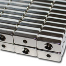 Neodymium magnets 20x10x5 with counterbore South Ø3,5 mm N40 - pull force 4 kg -
