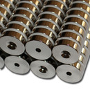 Neodymium magnets Ø18xØ3,5x5 with counterbore South NdFeB N40 - pull force 8 kg -