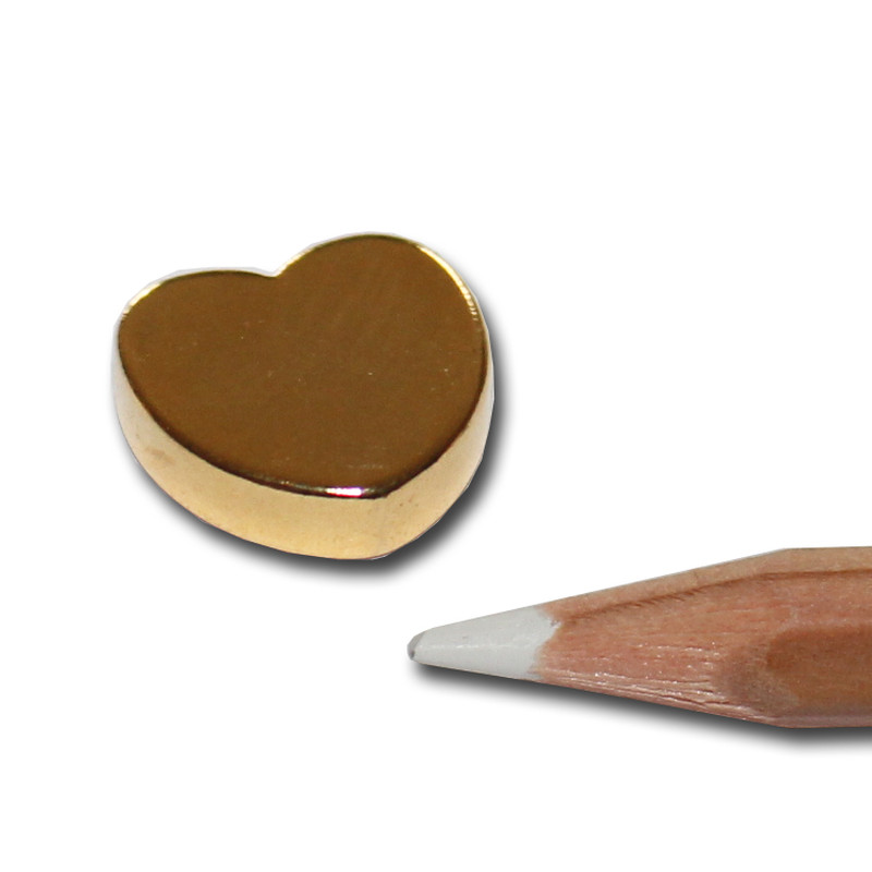 Neodymium magnet heart golden