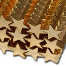 Neodymium magnet star golden