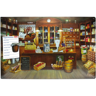 Magnetic pinboard Old Merchants Store 60x40 cm incl. 8...