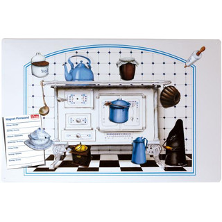 Magnetic pinboard Antiquely Kitchener 60x40 cm incl. 8...