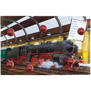 Magnetic pinboard Strem locomotive 60x40 cm incl. 6 magnets