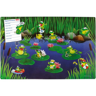 Magnetic pinboard Frog Pond 60x40 cm incl. 8 magnets