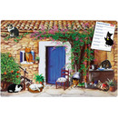 Magnetic pinboard Cat Farmhouse 60x40 cm incl. 8 magnets
