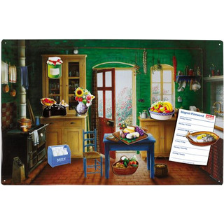 Magnetic pinboard Country House Kitchen 60x40 cm incl. 8...