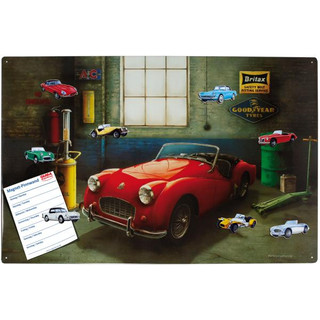 Magnetic pinboard Triumph Sports Car 60x40 cm incl. 8...