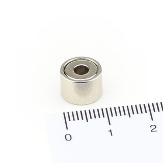 Neodymium flat pot magnets Ø 10 x 7 mm, with internal...