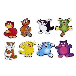 Pinboard Magnets Comic Cats Set with 8 pcs.