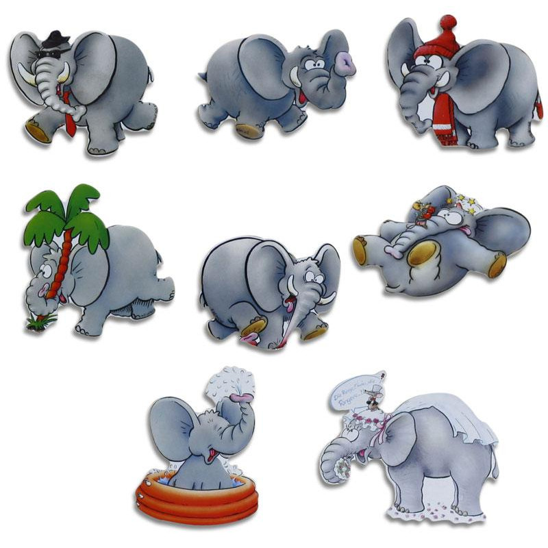 Pinboard Magnets Elephants Set with 8 pcs.