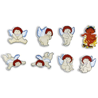 Pinboard Magnets Angels & Devils Set with 8 pcs.