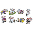 Pinboard Magnets Football-Piggies Set with 8 pcs.
