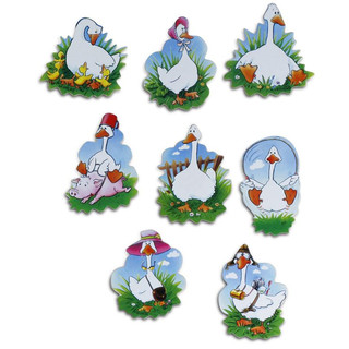 Pinboard Magnets Geese Set with 8 pcs.