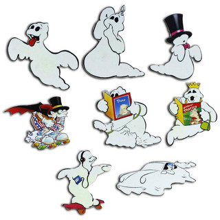 Pinboard Magnets Ghosts Set with 8 pcs.