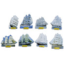 Pinboard Magnets Tall Ships Set with 8 pcs.