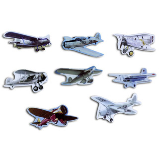 Pinboard Magnets Historical Aeroplanes Set with 8 pcs.
