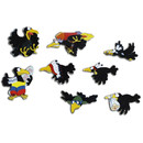 Pinboard Magnet Crows Set with 8 pcs.