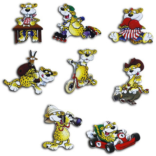 Pinboard Magnets Leopards Set with 8 pcs.