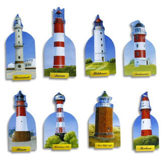 Pinboard Magnets Lighthouses Set with 8 pcs.