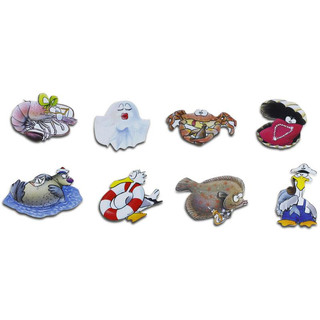 Pinboard Magnets Marine Creatures Set with 8 pcs.