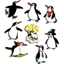 Magnetic pinboard Penguin Iceparty 60x40 cm incl. 8 magnets
