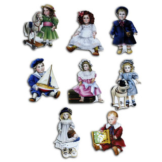 Pinboard Magnets Nostalgic Dolls Set with 8 pcs.