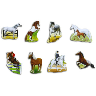 Pinboard Magnets Horses / Horsemen Set with 8 pcs.