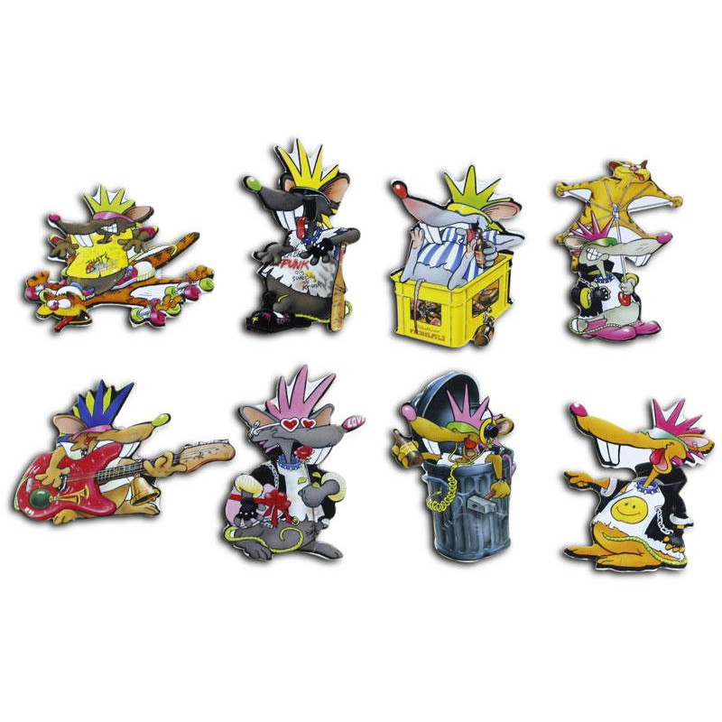 "Pinboard Magnets ""Punkers"" Set with 8 pcs."