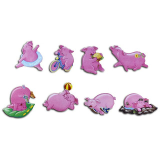 Pinboard Magnets Piggiess Set with 8 pcs.