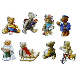 Pinboard Magnets Teddies Set with 8 pcs.